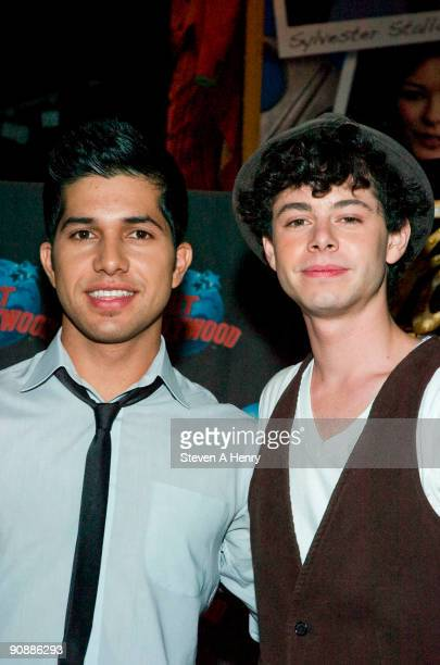 Actors Walter Perez and Paul Iacono visit Planet Hollywood Times Square on September 17 2009 in New York City