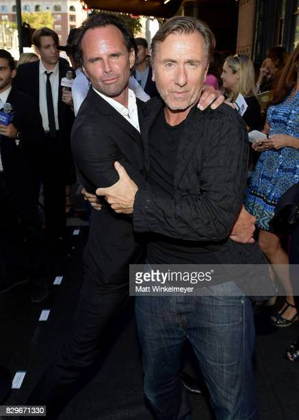 Actors Walton Goggins and Tim Roth attend Sundance NEXT FEST After Dark at The Theater at The Ace Hotel on August 10 2017 in Los Angeles California