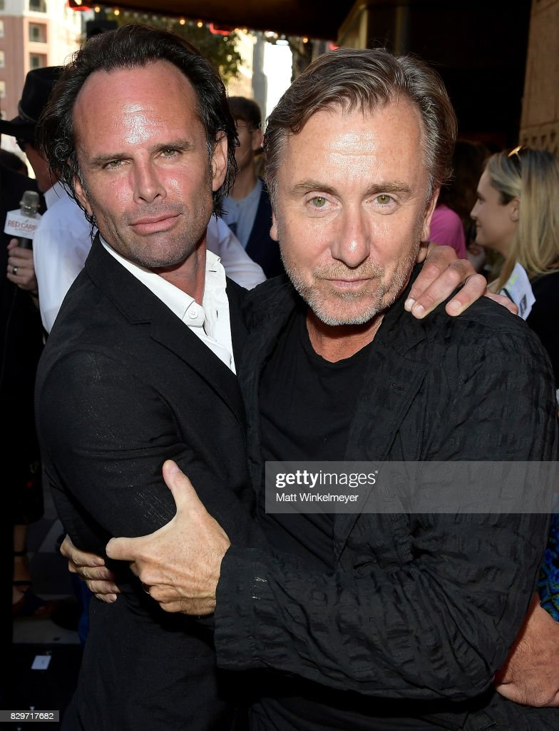Actors Walton Goggins and Tim Roth attend Sundance NEXT FEST After Dark at The Theater at The Ace Hotel on August 10, 2017 in Los Angeles, California.