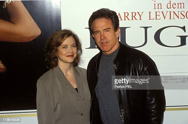 Actors Warren Beatty and Annette Bening at 'Bugsy' premiere In Hamburg Germany On February 29 1992Actors Warren Beatty and Annette Bening