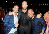 Actors Warren Brown Jason Statham and Stephen Graham attend The Expendables 2 Post Premiere Party at The Hippodrome Casino in association with Ciroc...