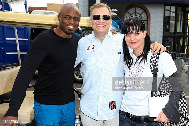 Actors Wayne Brady Drew Carey and Pauley Perrette attend the 29th Annual AIDS Walk LA on October 13 2013 in West Hollywood California