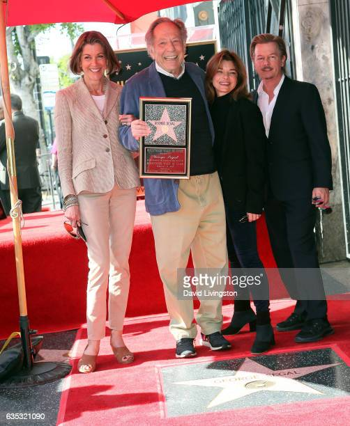 Actors Wendie Malick George Segal Laura San Giacomo and David Spade attend George Segal being honored with a Star on the Hollywood Walk of Fame on...