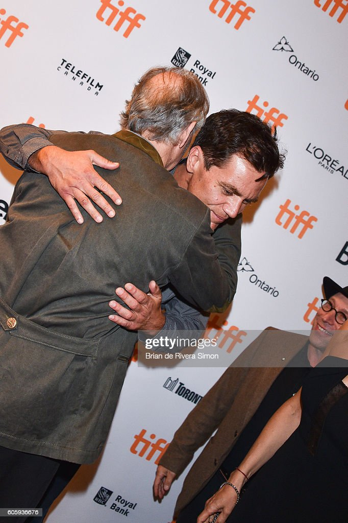 Actors Werner Herzog (L) and Michael Shannon attend the 'Salt and Fire' premiere during the 2016 Toronto International Film Festival at The Elgin on September 15, 2016 in Toronto, Canada.