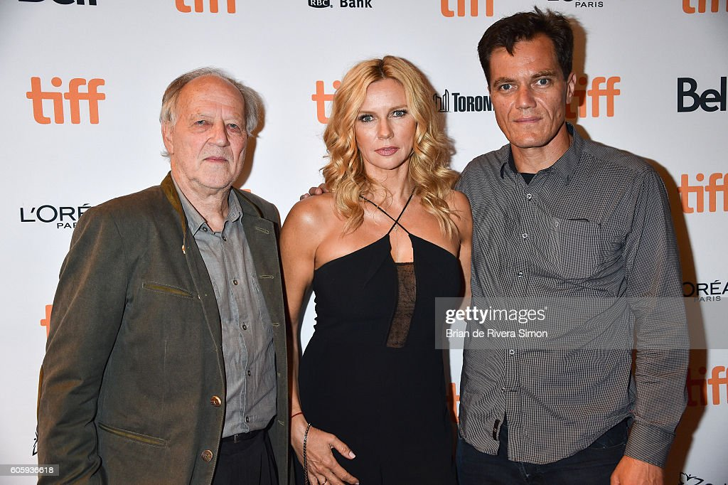 Actors Werner Herzog, Veronica Ferres and Michael Shannon attend the 'Salt and Fire' premiere during the 2016 Toronto International Film Festival at The Elgin on September 15, 2016 in Toronto, Canada.