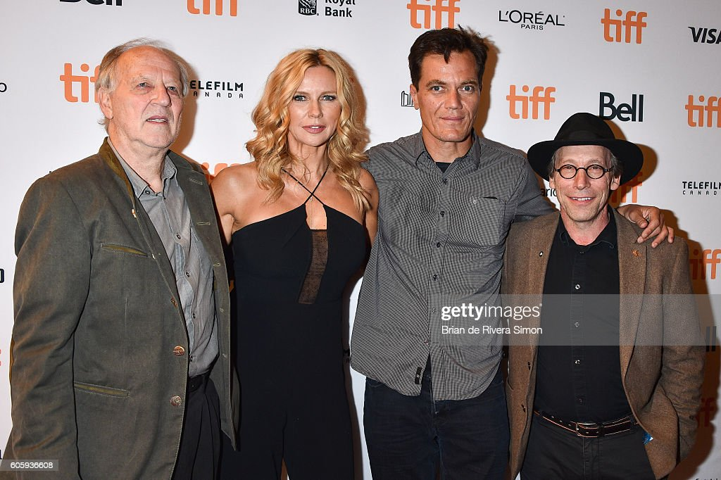 Actors Werner Herzog, Veronica Ferres, Michael Shannon, and Lawrence Krauss attend the 'Salt and Fire' premiere during the 2016 Toronto International Film Festival at The Elgin on September 15, 2016 in Toronto, Canada.