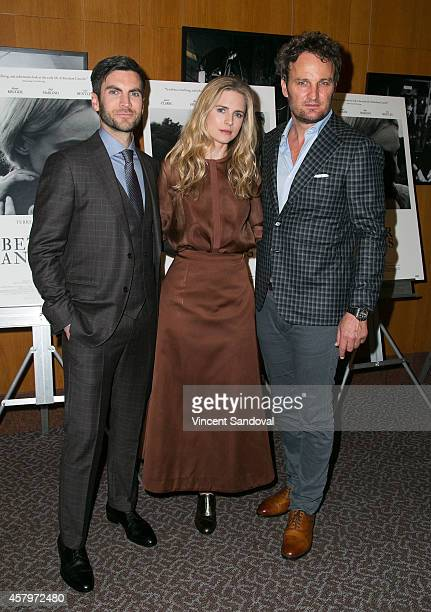 Actors Wes Bentley Brit Marling and Jason Clarke attend the Los Angeles Premiere of 'The Better Angels' at DGA Theater on October 27 2014 in Los...
