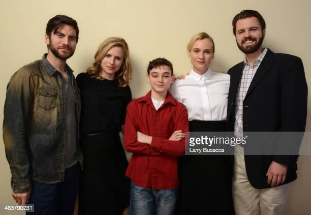 Actors Wes Bentley Brit Marling Braydon Denney and Diane Kruger and director AJ Edwards pose for a portrait during the 2014 Sundance Film Festival at...