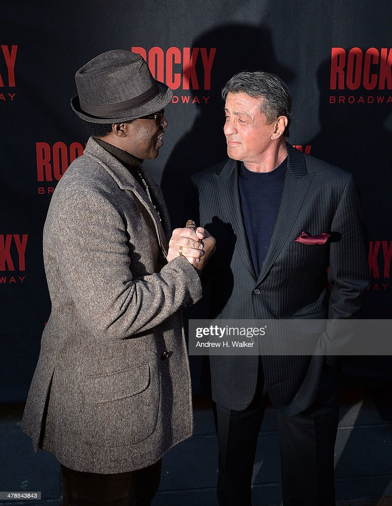 actors wesley snipes and sylvester stallone attend the rocky broadway picture id478543843