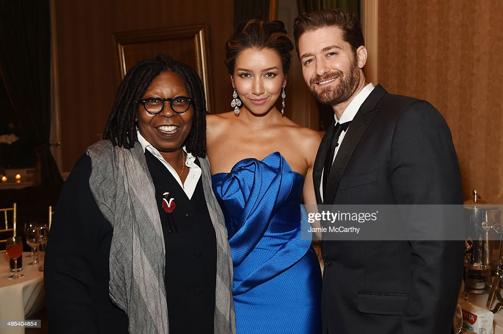 Actors Whoopi Goldberg Renee Puente and Matthew Morrison attend Elton John AIDS Foundation's 14th Annual An Enduring Vision Benefit at Cipriani Wall...