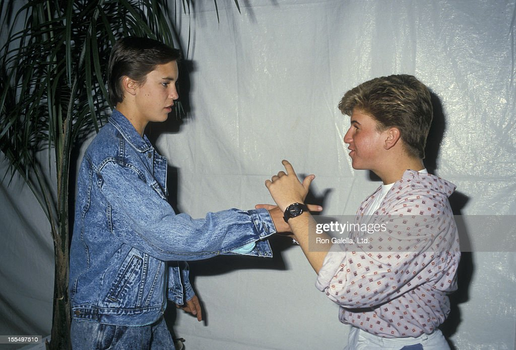 Actors Wil Wheaton and Jason Hervey attending the premiere of Like Father Like Son on September 17 1987 at Mann Chinese Theater in Hollywood...