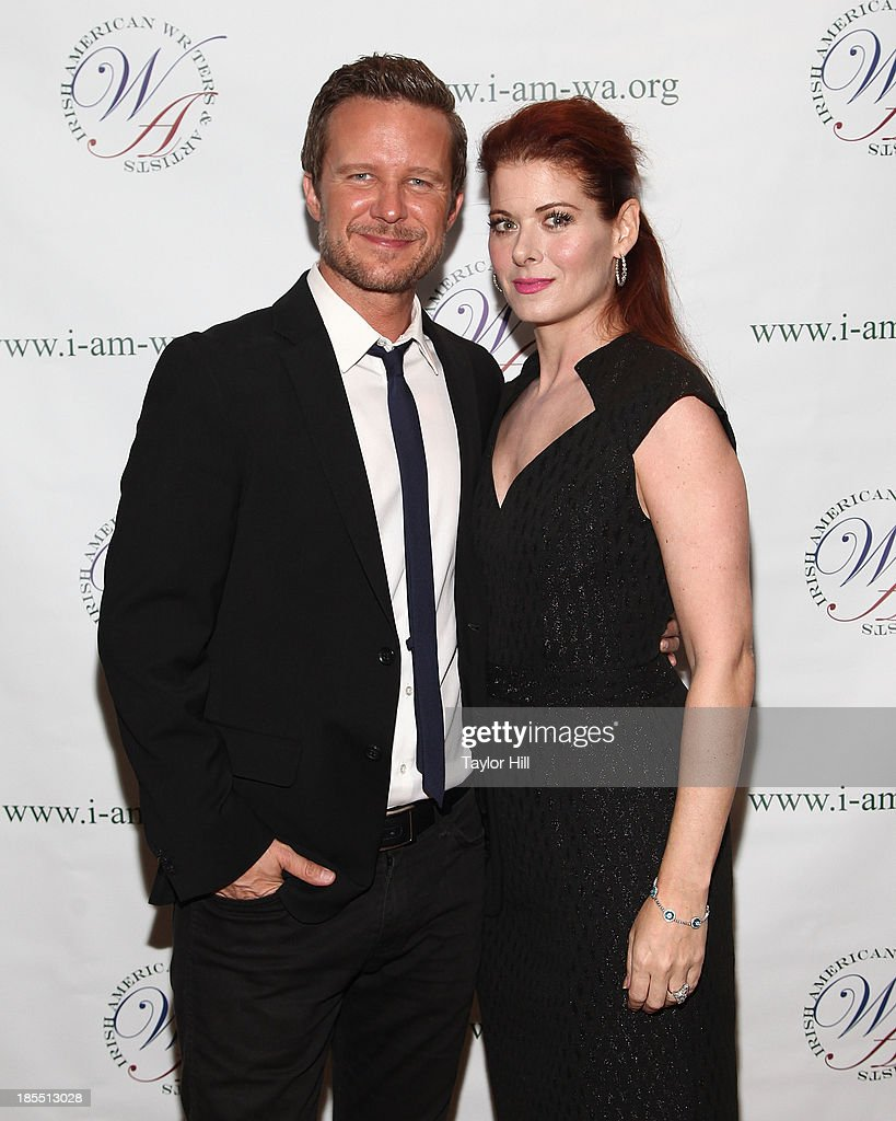 Actors Will Chase and <a gi-track='captionPersonalityLinkClicked' href=/galleries/search?phrase=Debra+Messing&family=editorial&specificpeople=202114 ng-click='$event.stopPropagation()'>Debra Messing</a> attend the 2013 Eugene O'Neill Lifetime Achievement Award gala at The Manhattan Club at Rosie O'Grady's on October 21, 2013 in New York City.