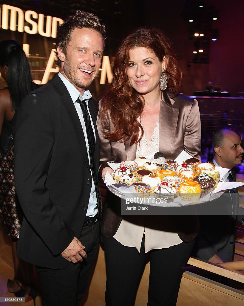 Actors Will Chase and <a gi-track='captionPersonalityLinkClicked' href=/galleries/search?phrase=Debra+Messing&family=editorial&specificpeople=202114 ng-click='$event.stopPropagation()'>Debra Messing</a> attend the Samsung Galaxy Note 10.1 launch party at Frederick P. Rose Hall, Jazz at Lincoln Center on August 15, 2012 in New York City.
