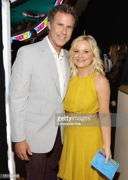 Actors Will Ferrell and Amy Poehler attend the 2011 VH1 Do Something Awards at the Hollywood Palladium on August 14 2011 in Hollywood California