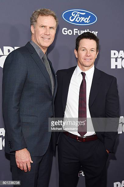 Actors Will Ferrell and Mark Wahlberg attend the 'Daddy's Home' New York premiere at AMC Lincoln Square Theater on December 13 2015 in New York City
