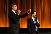 Actors Will Ferrell and Mark Wahlberg attend the London Premiere of 'Daddy's Home' at Vue West End on December 9 2015 in London United Kingdom