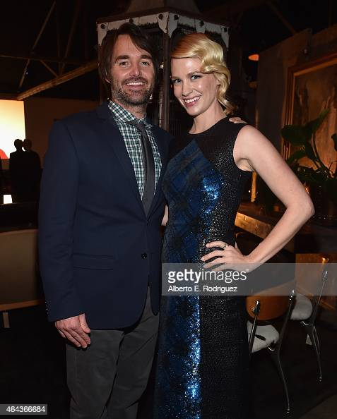 Actors Will Forte and January Jones attend the after party for the premiere of Fox's 'The Last Man On Earth' at on February 24 2015 in Los Angeles...
