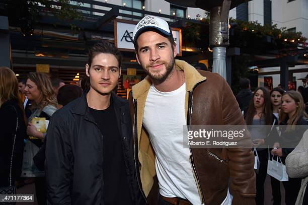 Actors Will Peltz and Liam Hemsworth attend City Year Los Angeles Spring Break at Sony Studios on April 25 2015 in Los Angeles California