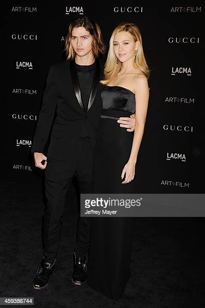 Actors Will Peltz and Nicola Peltz attend the 2014 LACMA Art Film Gala honoring Barbara Kruger and Quentin Tarantino presented by Gucci at LACMA on...