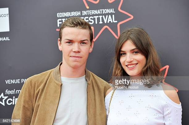 Actors Will Poulter and Alma Jodorowsky attend the World Premiere of 'Kids in Love' at the 70th Edinburgh International Film Festival at Cineworld on...