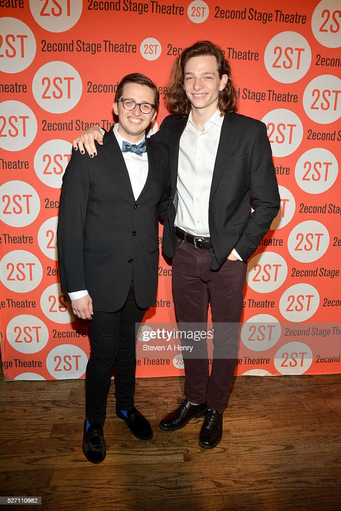 Actors Will Roland and Mike Faist attend 'Dear Evan Hansen' opening night after party at John's Pizzeria on May 1, 2016 in New York City.