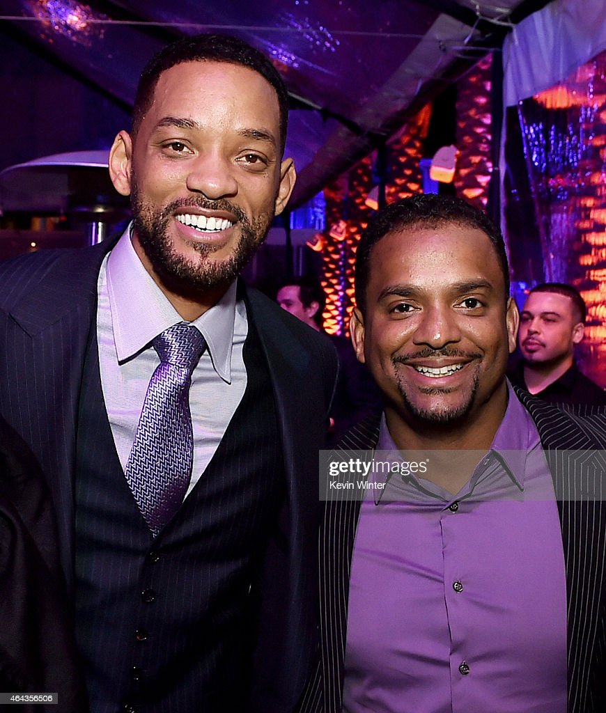 Actors <a gi-track='captionPersonalityLinkClicked' href=/galleries/search?phrase=Will+Smith+-+Actor+-+Born+1968&family=editorial&specificpeople=156403 ng-click='$event.stopPropagation()'>Will Smith</a> (L) and <a gi-track='captionPersonalityLinkClicked' href=/galleries/search?phrase=Alfonso+Ribeiro&family=editorial&specificpeople=628950 ng-click='$event.stopPropagation()'>Alfonso Ribeiro</a> pose at the after party for the premiere of Warner Bros. Pictures' 'Focus' at the W Hotel on February 24, 2015 in Los Angeles, California.