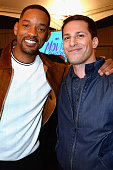 Actors Will Smith and Andy Samberg attend the 2016 MTV Movie Awards at Warner Bros Studios on April 9 2016 in Burbank California MTV Movie Awards...