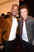 Actors Will Smith and Eddie Redmayne attend the 2016 MTV Movie Awards at Warner Bros Studios on April 9 2016 in Burbank California MTV Movie Awards...