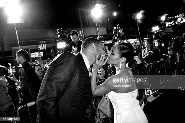 Actors Will Smith and his wife Jada Pinkett Smith arrive at the premiere of Warner Bros Pictures' 'Focus' at the Chinese Theatre on February 24 2015...