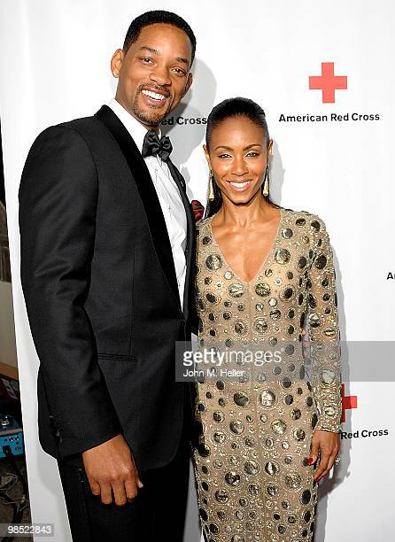 Actors Will Smith and Jada Pinkett Smith attend the Annual Red Cross of Santa Monica's Annual 'Red Tie Affair' at the Fairmont Miramar Hotel on April...