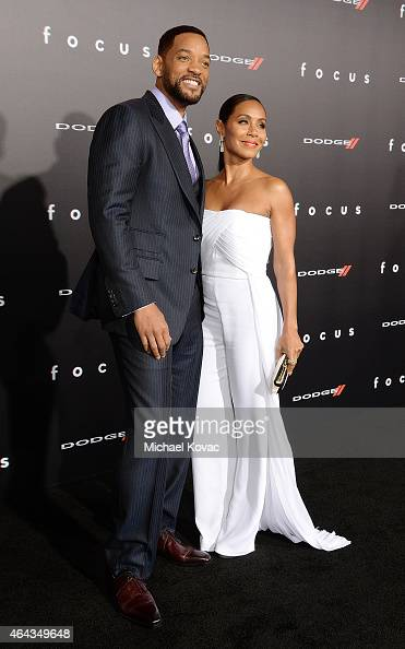 Actors Will Smith and Jada Pinkett Smith attend the Los Angeles Premiere of 'Focus' Sponsored By Dodge at TCL Chinese Theatre on February 24 2015 in...