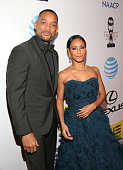 Actors Will Smith and Jada Pinkett Smith attends the 47th NAACP Image Awards presented by TV One at Pasadena Civic Auditorium on February 5 2016 in...
