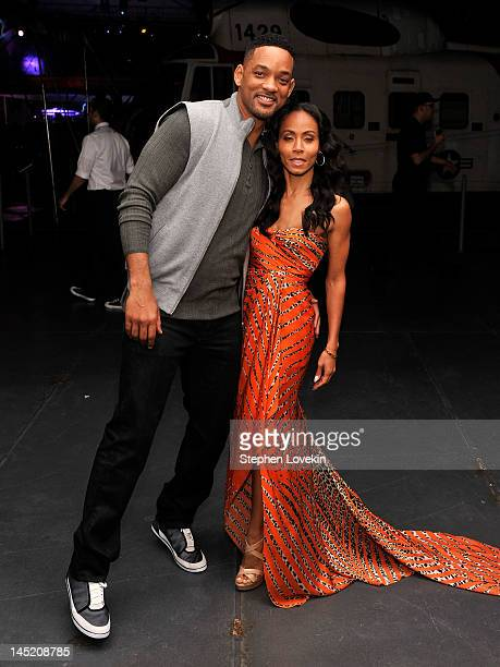 Actors Will Smith and Jada PinkettSmith attend the 'Men In Black 3' New York Premiere after party at the USS Intrepid on May 23 2012 in New York City