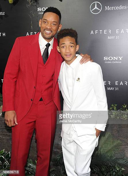 Actors Will Smith and Jaden Smith attend Columbia Pictures and MercedesBenz Present the US Red Carpet Premiere of AFTER EARTH at Ziegfeld Theatre on...