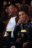 Actors Will Smith and Jaden Smith attend the 2016 MTV Movie Awards at Warner Bros Studios on April 9 2016 in Burbank California MTV Movie Awards airs...