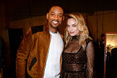 Actors Will Smith and Margot Robbie attend the 2016 MTV Movie Awards at Warner Bros Studios on April 9 2016 in Burbank California MTV Movie Awards...