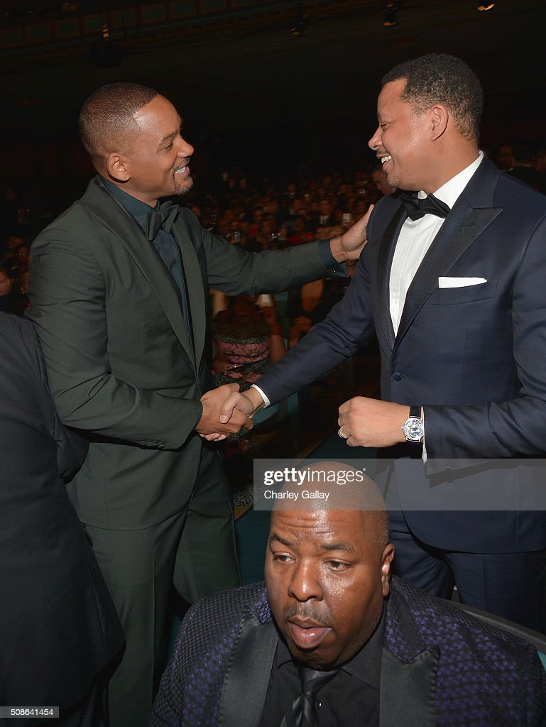 Actors <a gi-track='captionPersonalityLinkClicked' href=/galleries/search?phrase=Will+Smith+-+Acteur&family=editorial&specificpeople=156403 ng-click='$event.stopPropagation()'>Will Smith</a> (L) and <a gi-track='captionPersonalityLinkClicked' href=/galleries/search?phrase=Terrence+Howard&family=editorial&specificpeople=215196 ng-click='$event.stopPropagation()'>Terrence Howard</a> attend the 47th NAACP Image Awards presented by TV One at Pasadena Civic Auditorium on February 5, 2016 in Pasadena, California.