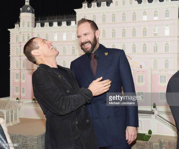 Actors Willem Dafoe and Ralph Fiennes attend the 'The Grand Budapest Hotel' New York Premiere at Alice Tully Hall on February 26 2014 in New York City
