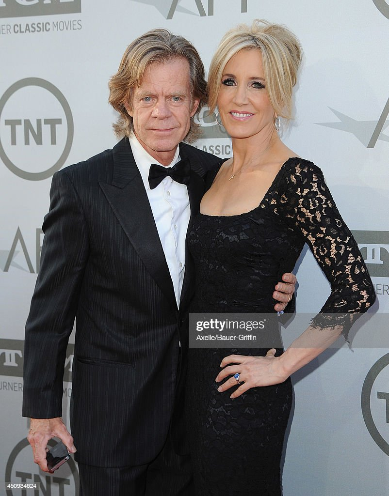 Actors <a gi-track='captionPersonalityLinkClicked' href=/galleries/search?phrase=William+H.+Macy&family=editorial&specificpeople=202170 ng-click='$event.stopPropagation()'>William H. Macy</a> and <a gi-track='captionPersonalityLinkClicked' href=/galleries/search?phrase=Felicity+Huffman&family=editorial&specificpeople=201903 ng-click='$event.stopPropagation()'>Felicity Huffman</a> arrive at the 2014 AFI Life Achievement Award Gala Tribute at Dolby Theatre on June 5, 2014 in Hollywood, California.