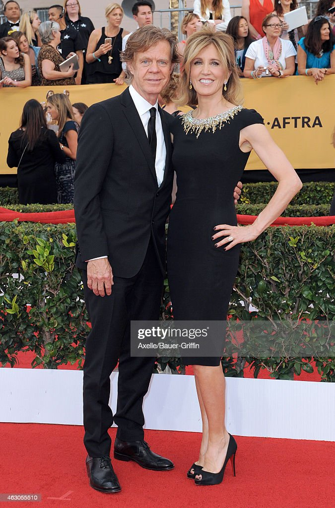 Actors William H Macy and Felicity Huffman arrive at the 21st Annual Screen Actors Guild Awards at The Shrine Auditorium on January 25 2015 in Los...
