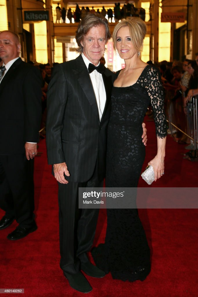 Actors William H. Macy (L) and Felicity Huffman attend the 2014 AFI Life Achievement Award: A Tribute to Jane Fonda at the Dolby Theatre on June 5, 2014 in Hollywood, California. Tribute show airing Saturday, June 14, 2014 at 9pm ET/PT on TNT.