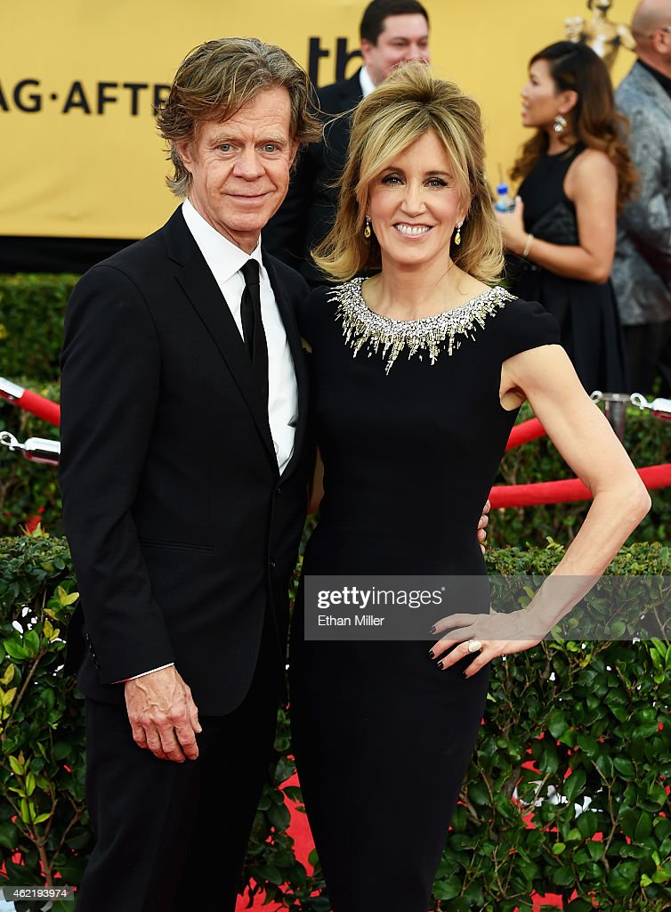 Actors William H Macy and Felicity Huffman attend the 21st Annual Screen Actors Guild Awards at The Shrine Auditorium on January 25 2015 in Los...