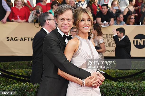 Actors William H Macy and Felicity Huffman attend the 23rd Annual Screen Actors Guild Awards at The Shrine Expo Hall on January 29 2017 in Los...