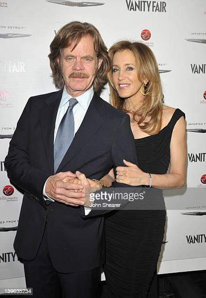 Actors William H Macy and Felicity Huffman attend the Vanity Fair and Chrysler celebration of The Eva Longoria Foundation hosted by Eva Longoria on...
