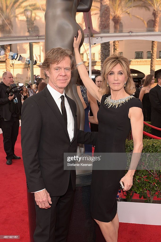 Actors William H Macy and Felicity Huffman attend TNT's 21st Annual Screen Actors Guild Awards at The Shrine Auditorium on January 25 2015 in Los...