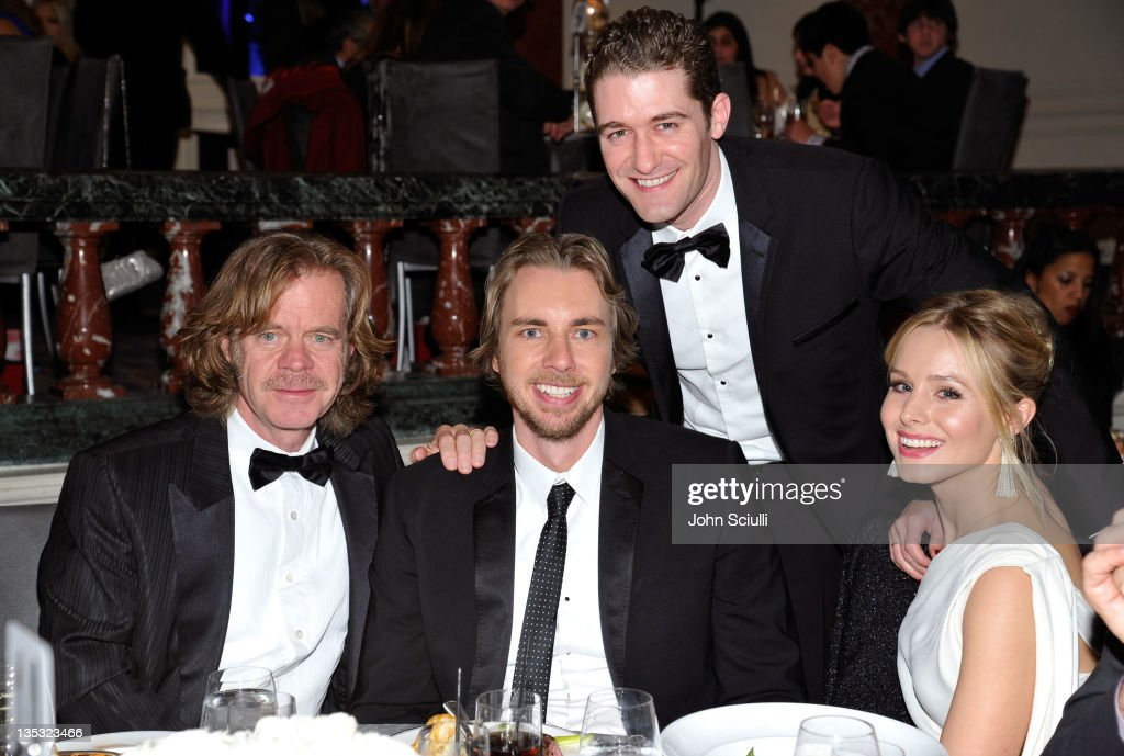 Actors William H Macy Dax Shepard Matthew Morrison and Kristen Bell attend the 2011 UNICEF Ball presented by Baccarat held at the Beverly Wilshire...