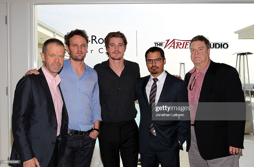 Actors William H. Macy, Jason Clarke, Garrett Hedlund, Michael Pena and John Goodman attend The Variety Studio: Awards Edition held at a private residence on November 28, 2012 in Los Angeles, California.