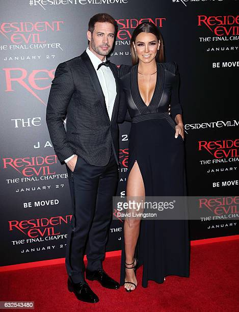 Actors William Levy and Elizabeth Gutierrez attend the premiere of Sony Pictures Releasing's 'Resident Evil The Final Chapter' at Regal LA Live A...