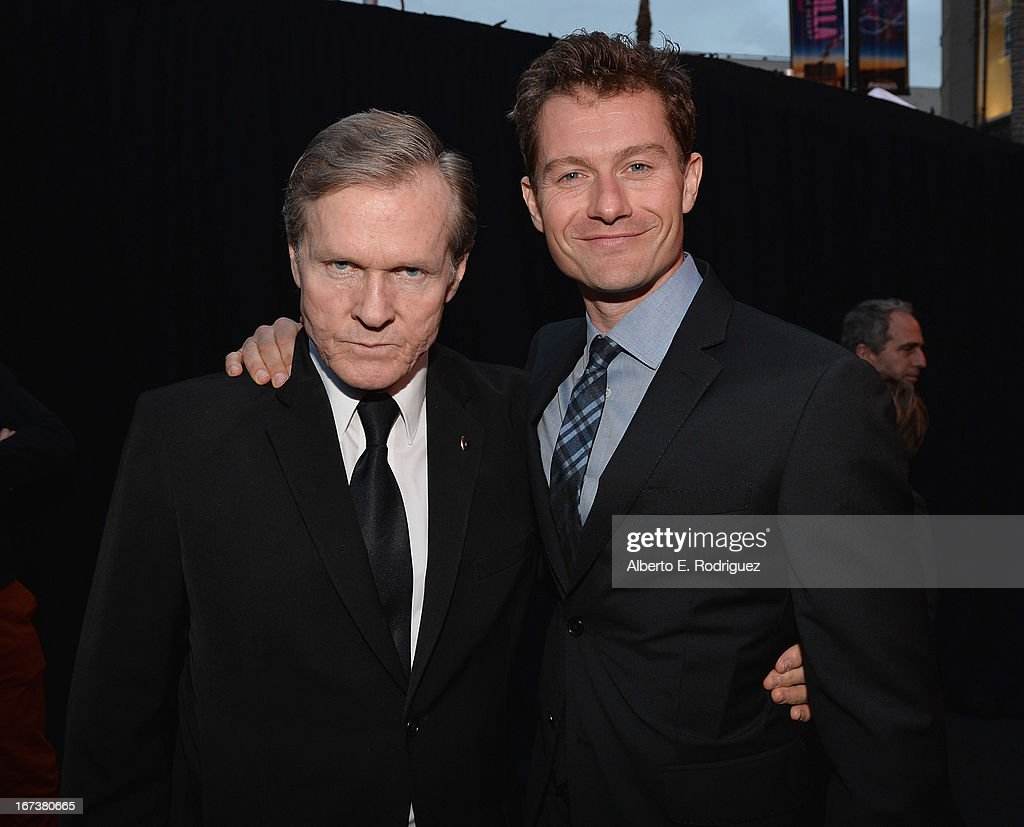 Actors William Sadler and James Badge Dale attend Marvel's' Iron Man 3 Premiere at the El Capitan Theatre on April 24 2013 in Hollywood California