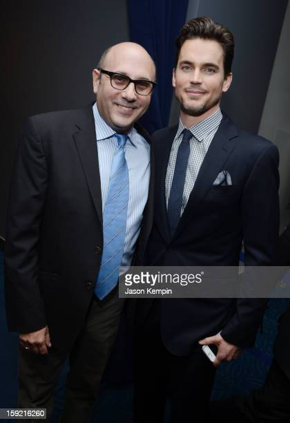 Actors Willie Garson and Matt Bomer backstage at the 39th Annual People's Choice Awards at Nokia Theatre LA Live on January 9 2013 in Los Angeles...